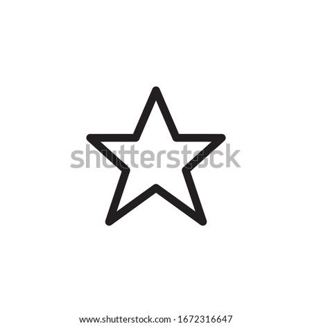 star icon vector symbol template Foto stock ©