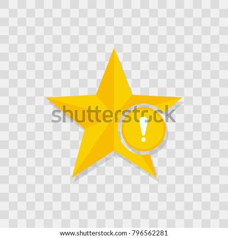 Star icon, warning icon sign vector symbol