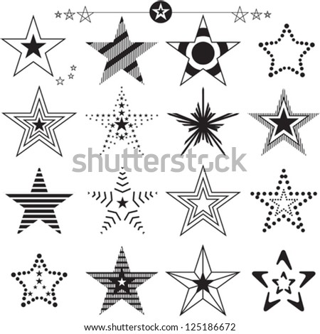 Star icons and logos collection