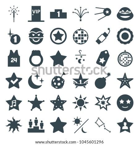 star icons set of 36 editable