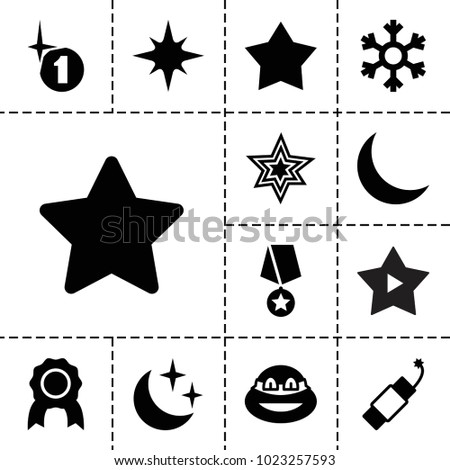 star icons set of 13 editable