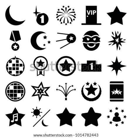 star icons set of 25 editable