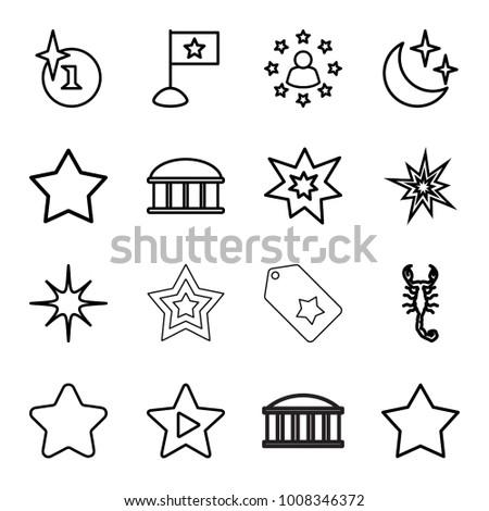 star icons set of 16 editable