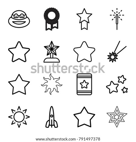 star icons set of 16 editable
