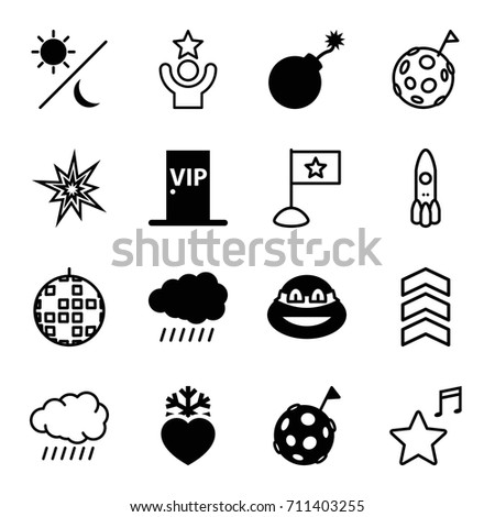 star icons set set of 16 star