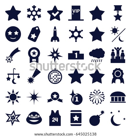 star icons set set of 36 star