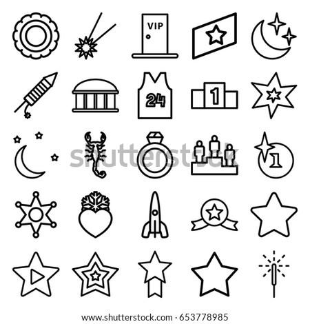 star icons set set of 25 star