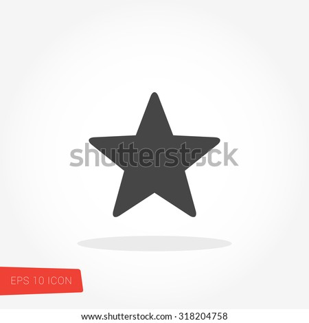star isolated flat web mobile