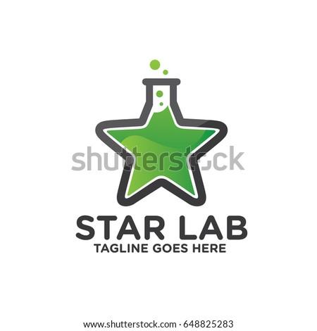 star lab logo design  vector of