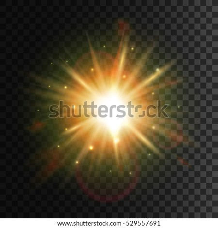 star light with lens flare