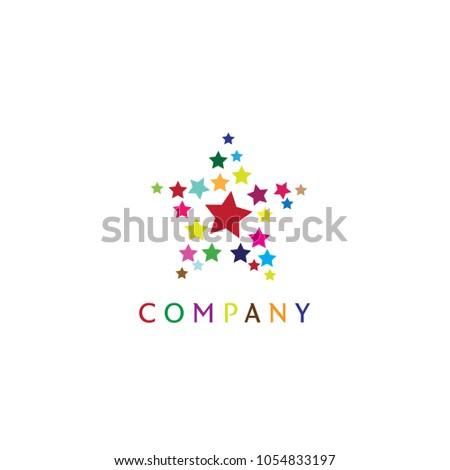 star logo, five star, colorful, 21 stars
