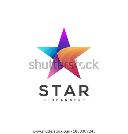 star logo illustration colorful