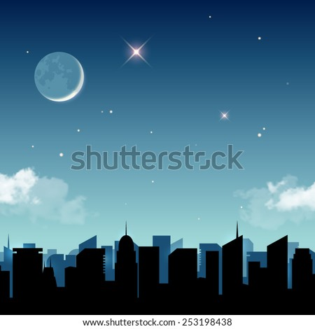 star night in the city vector