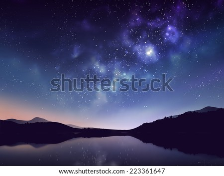 star night vector illustration