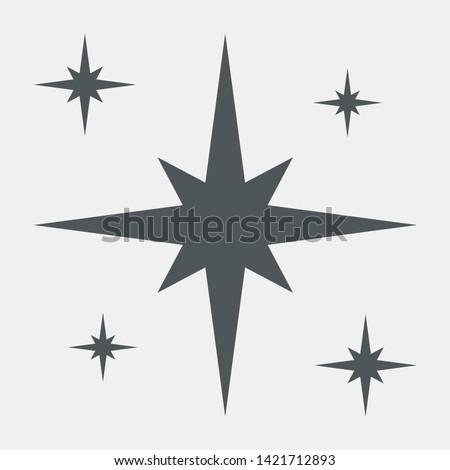 Star north christmas quality vector illustration cut