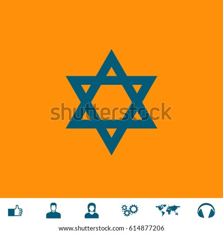 star of david blue symbol icon
