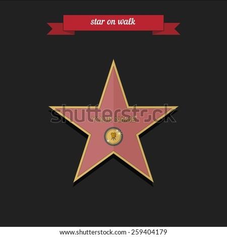 star on walk flat style design