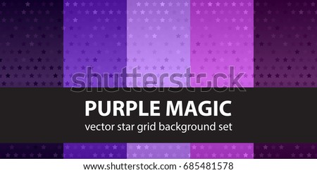 Purple background with stars seamless pattern download free vector star pattern set purple magic vector seamless backgrounds altavistaventures Image collections