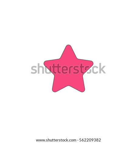 star pink vector icon with