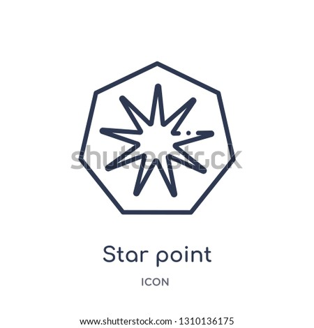 star point icon from ultimate glyphicons outline collection. Thin line star point icon isolated on white background.
