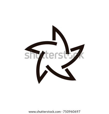 Star propeller abstract line logo