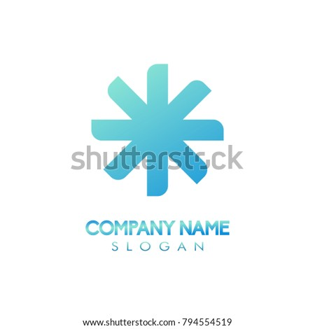 Star propeller unique abstract logo icon design concept for brand company identity