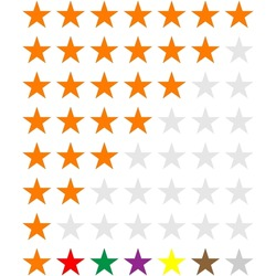 Star rating. Quality level, customer satisfaction, survey, poll star concept icon