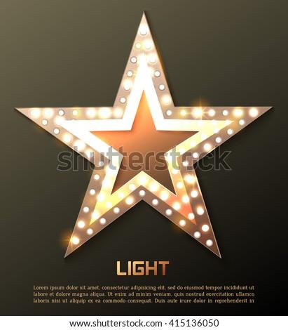 Star retro light banner. Vector illustration eps 10 #415136050