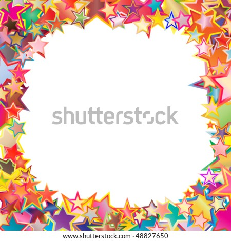 Star's frame. Abstract background.