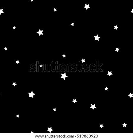 star seamless pattern black