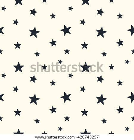 star seamless pattern cute