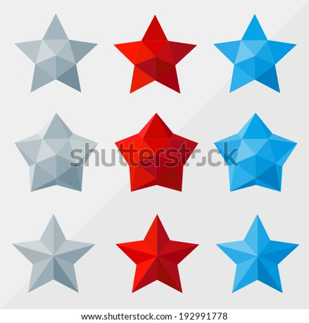 star set by triangles  polygon