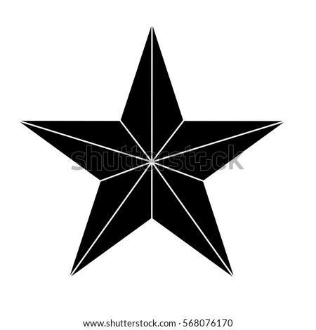 Star showing military authority icon image vector illustration