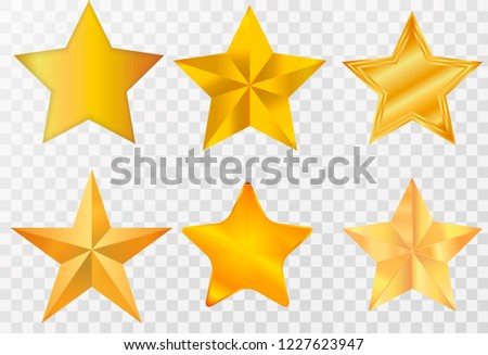 Star / Star-icon / Star-vector / Star set on transparent background.