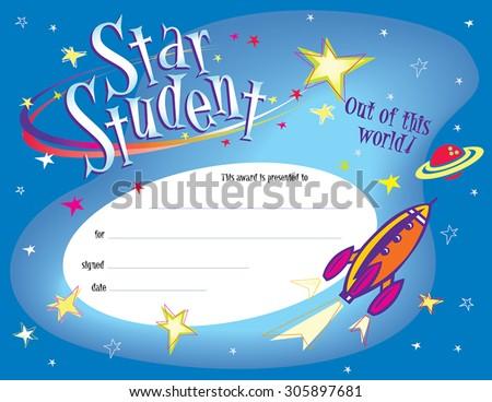 star student award certificate