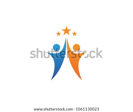 Star success logo people business