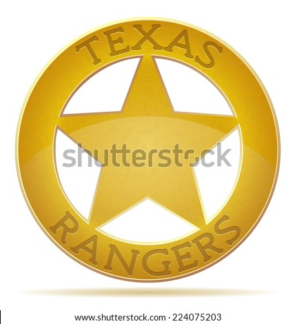 star texas ranger vector illustration isolated on white background