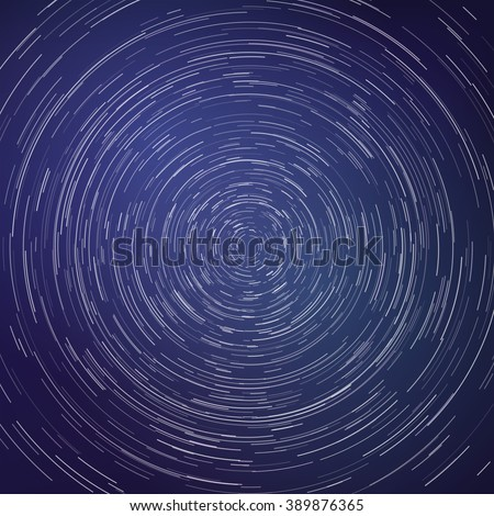 star trails around in the night