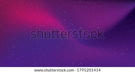 Star universe and stardust in deep space background and gradient sky galaxy in the night with nebula in the cosmos. Vector Illustration.