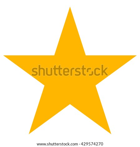 Star vector icon, flat rank, yellow favorite web symbol.