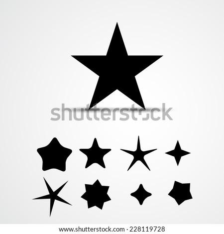 Star vector icon. Set