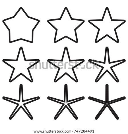 star - Vector icon star Icon Vector / star icon / star- Vector  / gold stars / outline star