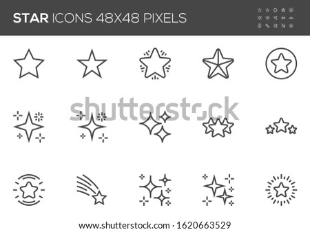star vector line icons set
