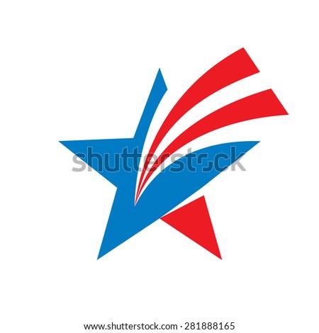 star   vector logo concept