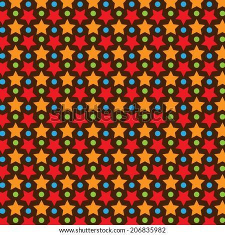 Star Vector Pattern With Dark Background