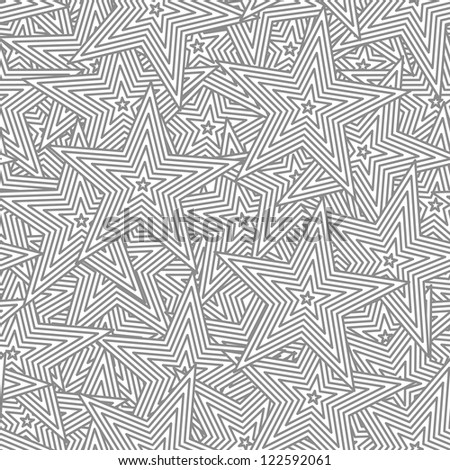 Star vector seamless background - an abstract pattern