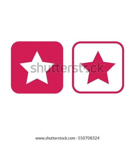 star vector symbol pink and
