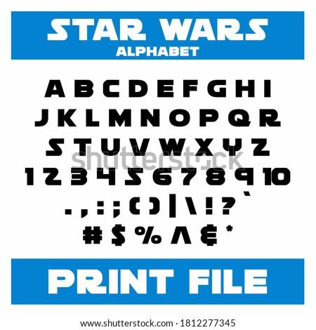 Star wars font, Star wars font design, Stockfoto ©
