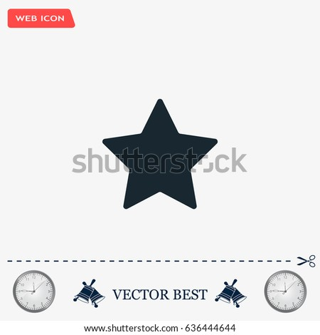 Star web icon. vector design