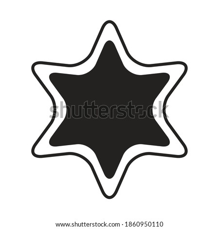 star with 6 points silhouette
